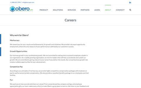 Careers - Obero SPM