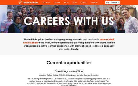 Screenshot of Jobs Page studenthubs.org - Careers With Us |  Student Hubs - captured Nov. 10, 2017