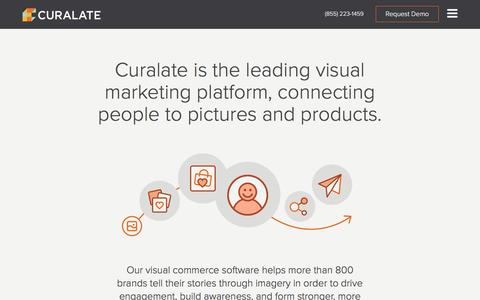 Screenshot of About Page curalate.com - Visual Commerce Software and Marketing Platform - Curalate - captured Aug. 10, 2016