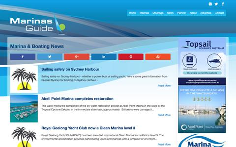 Screenshot of Press Page marinasguide.com.au - Marina News| Marinas Guide - captured Oct. 9, 2017