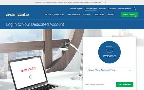 Screenshot of Login Page avangate.com - Login to Access Avangate Applications - captured Oct. 22, 2016