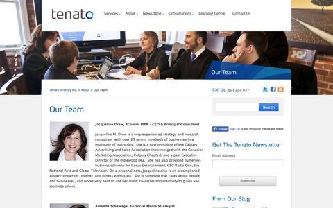 Screenshot of Team Page tenato.com - Calgary Marketing Consultants | Tenato Strategy Inc. - captured Nov. 18, 2016