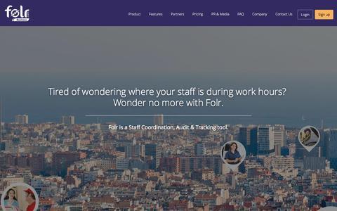 Screenshot of Home Page folr.com - Folr Business - captured Sept. 20, 2015
