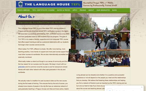 Screenshot of About Page thelanguagehouse.net - Our Mission - captured Oct. 24, 2017