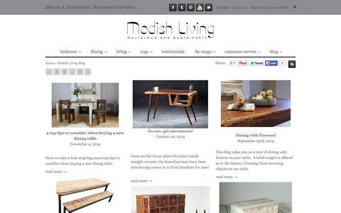 Screenshot of Blog modishliving.co.uk - Modish Living Blog | Scandinavian furniture | Reclaimed wood furniture | Modish Living - captured Nov. 5, 2014