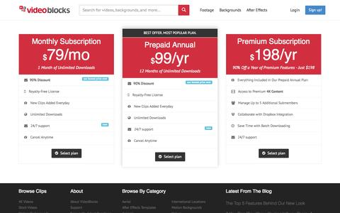 Screenshot of Signup Page videoblocks.com - Join Now - VideoBlocks - captured Oct. 28, 2014