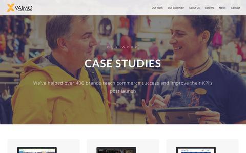 Screenshot of Case Studies Page vaimo.com - Vaimo Client eCommerce Case Studies - Vaimo - captured June 1, 2018