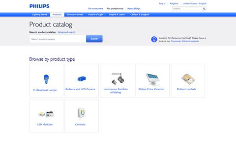 Screenshot of Products Page philips.com - Product catalog - Philips - captured Sept. 19, 2014