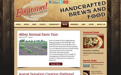 Screenshot of Blog engrainedbrewing.com - Engrained Blog - captured Aug. 9, 2017