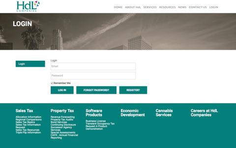 Screenshot of Login Page hdlcompanies.com - HdL Companies : Login - captured May 16, 2017