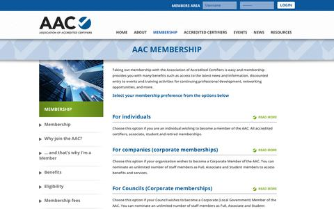 Screenshot of Signup Page accreditedcertifiers.com.au - - Association of Accredited Certifiers - captured Oct. 9, 2017