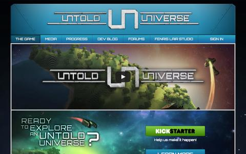 Screenshot of Home Page untold-universe.com - Untold Universe | A MMORPG about space and cubes! - captured Oct. 5, 2014