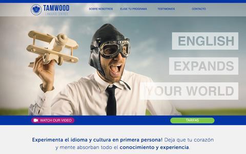 Screenshot of Home Page escuelas-ingles-canada.com - Tamwood   Language Centres - captured Sept. 5, 2015