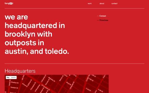 Screenshot of Maps & Directions Page fangohr.com - contact \ fangohr, LLC. - captured Nov. 25, 2016
