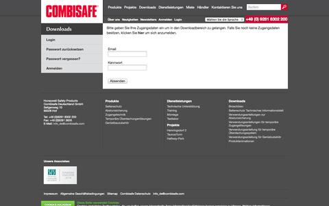 Screenshot of Login Page combisafe.de - Login | Combisafe - captured Oct. 2, 2014