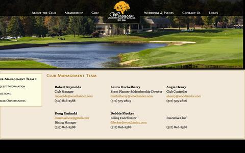 Screenshot of Contact Page woodlandcc.com - Club Management Team - Woodland Country Club - captured March 12, 2016