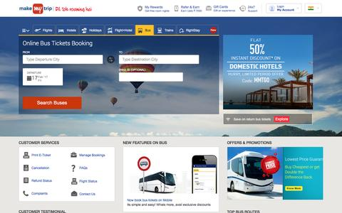 Online Bus Ticket Booking, Book Confirmed Reservation Tickets @ MakeMyTrip