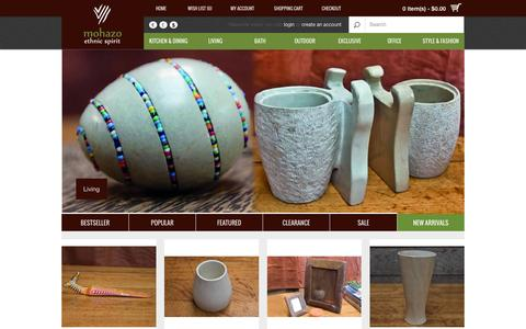 Screenshot of Home Page mohazo.co.ke - Mohazo Collection :: A contemporary range of Fashion and Homeware accessories to suite your living, technology and outdoor style. - captured Oct. 7, 2014