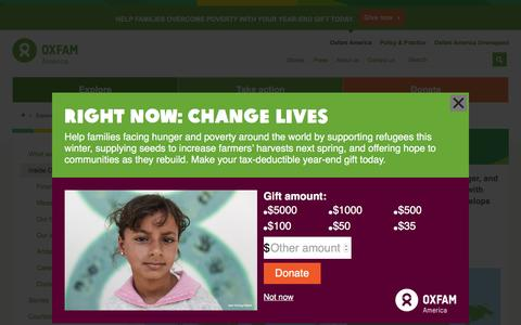 Screenshot of About Page oxfamamerica.org - Inside Oxfam America   Oxfam America - captured Dec. 8, 2015