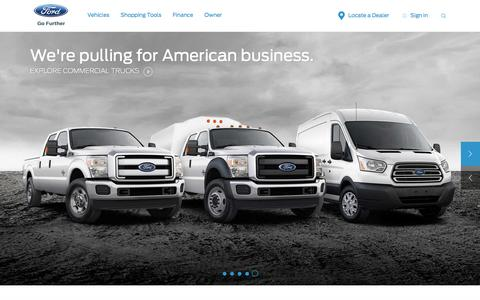 Screenshot of Home Page ford.com captured Jan. 10, 2017