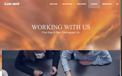 Screenshot of Jobs Page looxent.com - Careers   Working with Us   룩센트 인코포레이티드 - captured Sept. 30, 2018