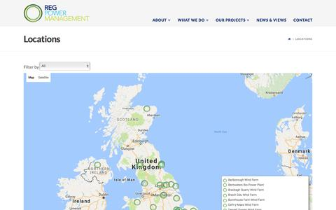 Screenshot of Locations Page regpower.co.uk - Locations | REG Power Management - captured Feb. 6, 2017