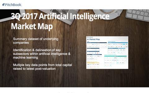 Screenshot of Landing Page pitchbook.com - PitchBook 3Q 2017 Artificial Intelligence Market Map - captured Sept. 7, 2017