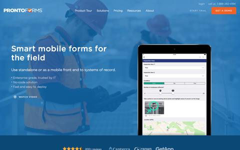 Mobile Forms for Business | Online Mobile Forms | ProntoForms