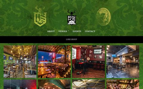 Screenshot of Home Page loregrp.com - LORE Group – Hospitality and Entertainment Group Based in Los Angeles, CA. - captured Sept. 25, 2018