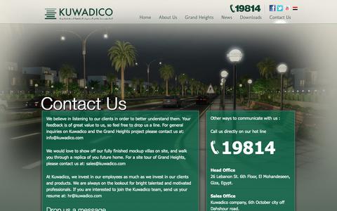 Screenshot of Contact Page kuwadico.com - Contact Us - Kuwadico - captured Oct. 16, 2018
