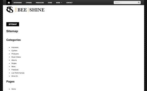 Screenshot of Site Map Page thebeeshine.com - Sitemap | TheBeeShine - captured Sept. 21, 2018