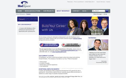 Screenshot of Jobs Page modspace.com - Careers - captured Sept. 23, 2014