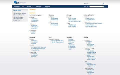 Screenshot of Site Map Page gce.com.jo - General Computers & Electronics (GCE), IT company ,in Jordan: gce - sitemaps - captured Oct. 1, 2014