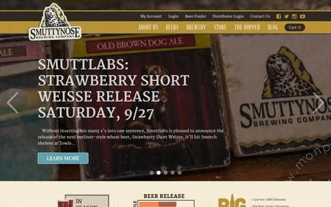 Screenshot of Press Page smuttynose.com - Blog | Smuttynose Brewing Company - captured Oct. 7, 2014
