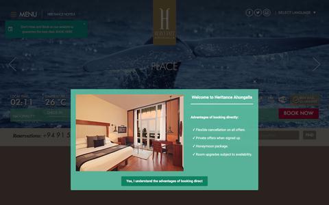 Screenshot of Locations Page heritancehotels.com - Hotel Ahungalla | Location of Heritance Ahungalla Sri Lanka - captured Sept. 23, 2018
