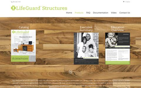 Screenshot of Products Page lifeguardstructures.com - Products - Lifeguard Structures - captured Oct. 2, 2015