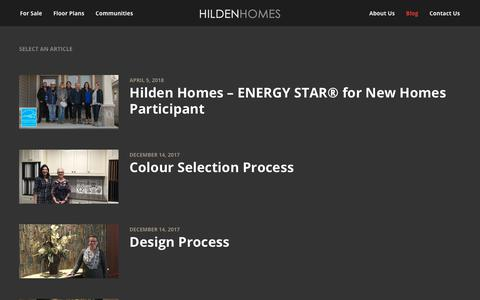 Screenshot of Blog hildenhomes.com - Blog - Hilden Homes - captured July 19, 2018