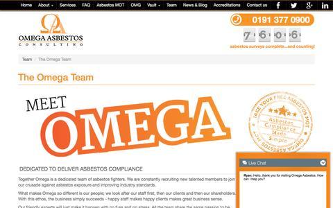 Screenshot of Team Page omega-asbestos.co.uk - The Omega Team   Omega Asbestos Consulting Ltd - captured Dec. 6, 2016