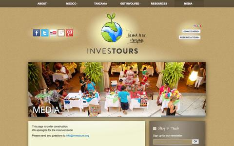 Screenshot of Press Page investours.org - Media | Investours - captured Oct. 6, 2014