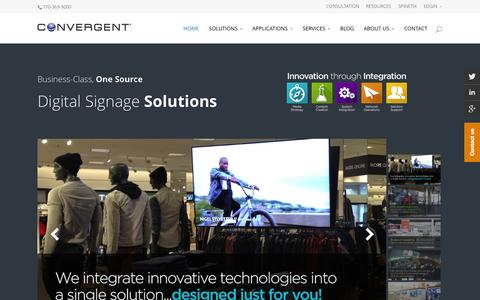Screenshot of Home Page convergent.com - Digital Signage - Convergent - captured Sept. 19, 2015