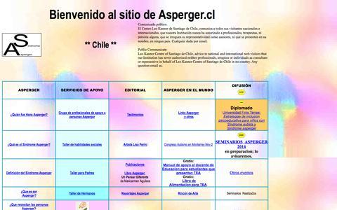 Screenshot of Home Page asperger.cl - Sindrome Asperger.cl - captured Sept. 22, 2014