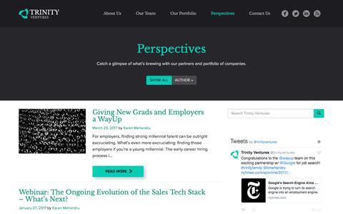 Screenshot of Blog trinityventures.com - Blog - Trinity Ventures - captured June 21, 2017