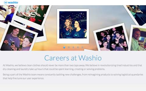 Washio | Jobs
