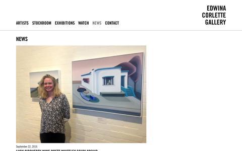 Screenshot of Press Page edwinacorlette.com - News / Edwina Corlette Gallery - Contemporary Art Brisbane - captured Oct. 8, 2016