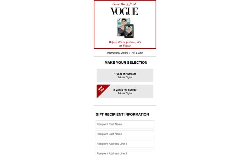 Gift Subscription | Vogue
