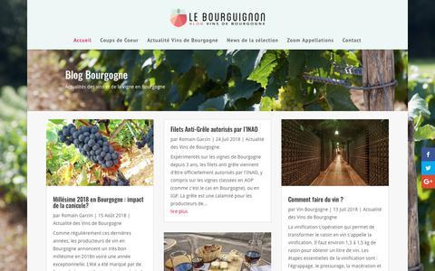 Screenshot of Blog le-bourguignon.fr - Blog vin Bourgogne: Romain Garcin, votre guide en Bourgogne - captured Sept. 27, 2018