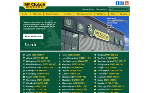 Screenshot of Contact Page mrclutch.com - Contact Mr Clutch | Email Us, Phone Us or Write To Us - captured Jan. 18, 2016