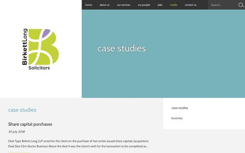 Screenshot of Case Studies Page birkettlong.co.uk - Case Studies- Birkett Long Solicitors - captured Aug. 2, 2018