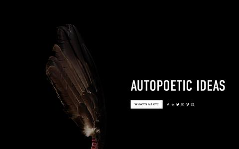 Screenshot of Home Page ideasfestival.ca - Autopoetic Ideas - captured Oct. 9, 2017