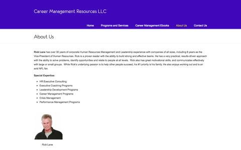 Screenshot of About Page careermanagementresources.com - About Career Management Resources | Get Results with Career Management Resources! - captured Oct. 1, 2014